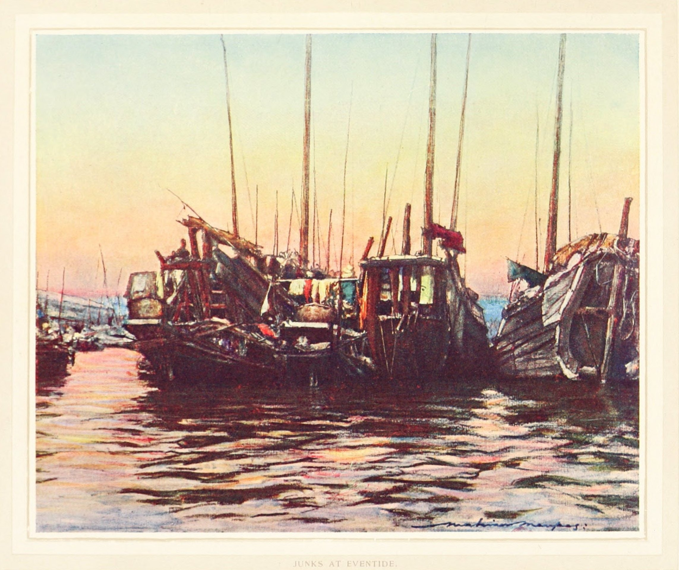 China14.Junks at Eventide.黄昏时分的帆船.jpg